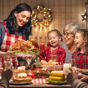 holiday health tips family dinner
