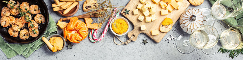 holiday health tips cover photo food