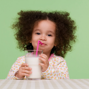 child drinking milk healthy new year nutrition healthworks