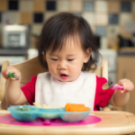 baby starting to eat solid foods as they get closer to one year old