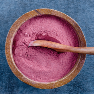 beet root powder in a bowl to be used by a runner